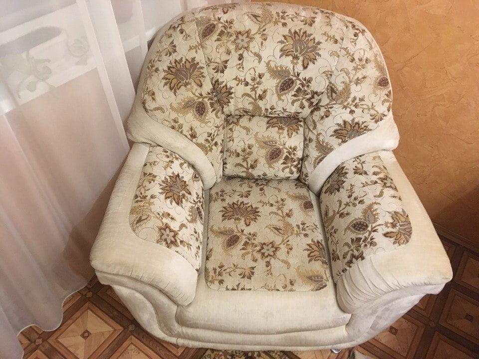 Химчистка кресла результат