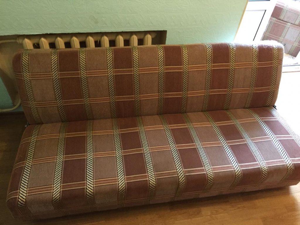 Результат химчистки старого дивана