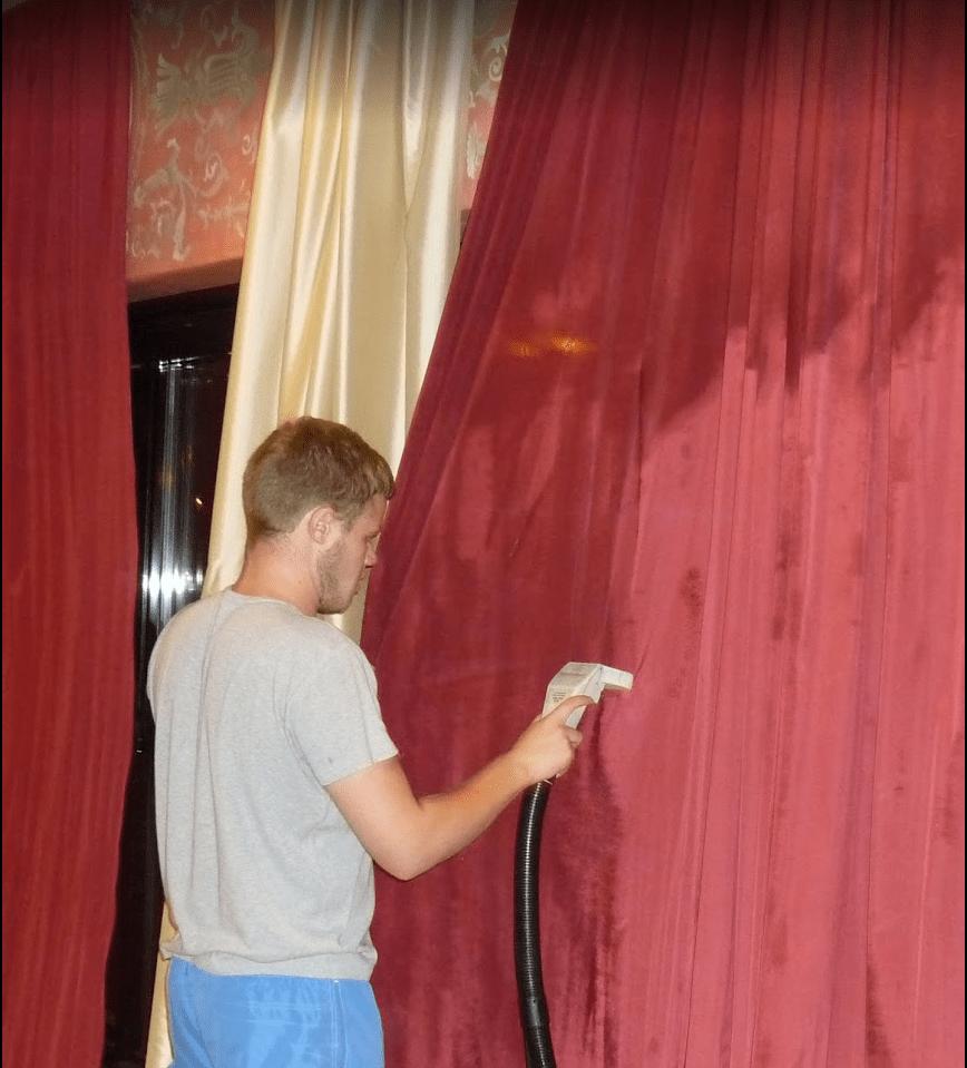 Химчистка штор в баре