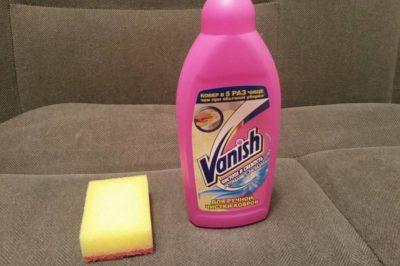 Как отчистить пятно с помощью Ваниша